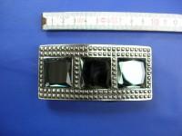 Koppelschnallen 4,0 cm schwarznickel mit Strass (E19K252)