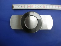 Koppelschnallen 4,0 cm satiniert mit schwarznickel (E19K249)