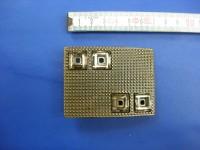 Koppelschnallen 4,0 cm altmessing mit Strass (E19K246)