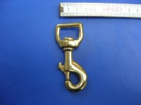 Wirbelkarabiner 2,0 cm massiv messing (017B3/4ME)
