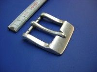 4 cm Messinghalbschnalle altsilber (HS19279/40ASI)