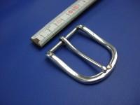 4 cm Messinghalbschnalle versilbert (HS19216/40VSI)