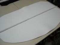 Wasserbüffelcroupon weiss ca. 3,5 mm (EC2036W)