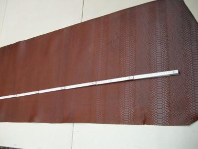 Wasserbüffelcroupon, Schlangenprägung cognac E1853SC