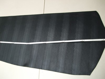 Wasserbüffelcroupon, Schlangenprägung schwarz E1853SS
