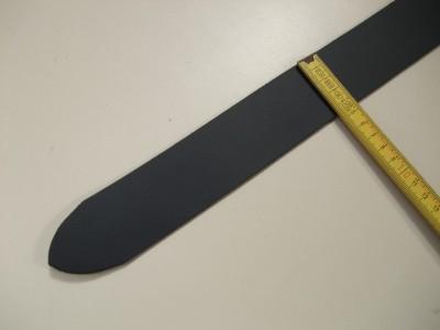 Spaltgürtelstreifen 4,5 cm. Schwarz und dunkelbraun. 1G45
