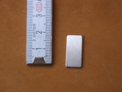 Magnetplättchen 1 x 2 cm (MPH1x2)