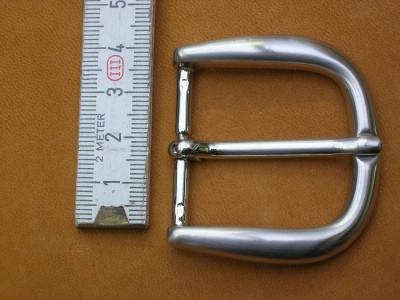 Halbschnalle 3,5cm Ni-gebürstet (SP11)