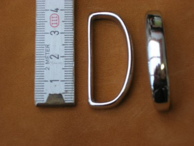 Schlaufe 3,5 cm messing vernickelt (4962B1 3/8ni)