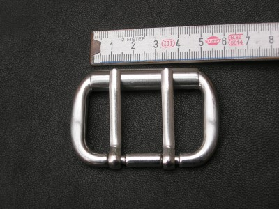 Doppeldornhalbschnalle 5,0 - 4,5 cm (BZ13DD)