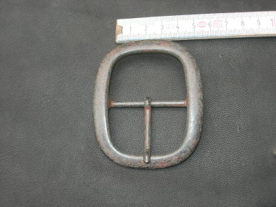 Doppelschnalle altkupfer 4,5 cm (BZ12AK)