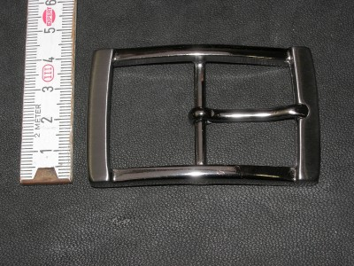 Doppelschnalle 3,5 cm altnickel