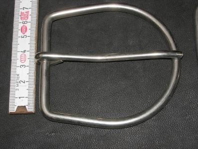 Halbschnalle 6,0 cm vernickelt