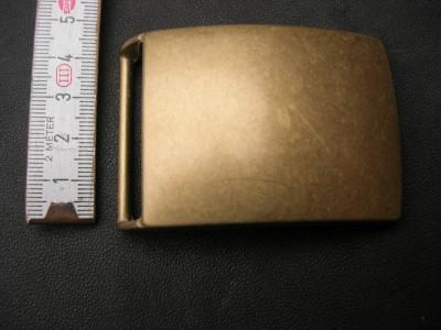 Koppelschnalle massiv altmessing 4 cm (KS4AM)