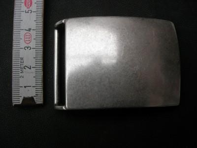Koppelschnalle massiv messing altsilber 4 cm (KS4MAS)