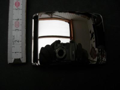 Koppelschnalle massiv messing vernickelt 4 cm (KS4MNI)