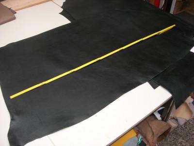 Rindcroupon schwarz (SL1833RC). Weich und dick..
